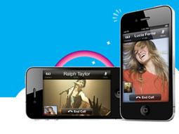چت تصویری رایگان Skype برای iPhone