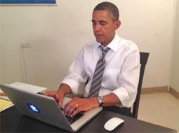حضور زنده اوباما در یک شبکه اجتماعی، آن را دچار اختلال کرد