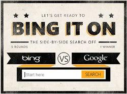 در رقابت بین گوگل و بینگ شما داور باشید