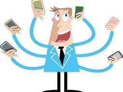 96 درصد مردم جهان صاحب تلفنهمراه هستند