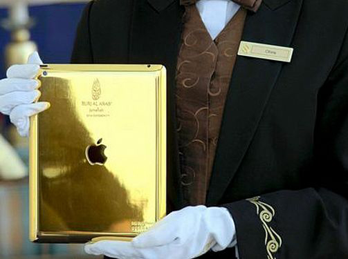 مهمانان هتل برج العرب iPad از جنس طلا در اختیار میگیرند