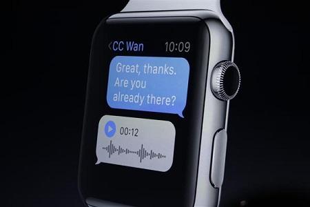با آی واچ میتوان پیامهای صوتی ارسال نمود