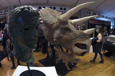 سر دایناسور Triceratops به کمک 600 قطعه مجزا توسط چاپگر سهبعدی تولید شده و در معرض دید عموم قرار گرفته است