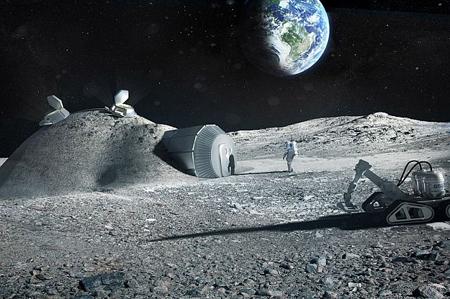 آژانس فضایی اروپا(ESA) با معماران همکاری میکند تا بهکمک چاپگر سهبعدی از خاک کره ماه استفاده کند و ساختمانی به نام Lunar Base روی ماه بسازد