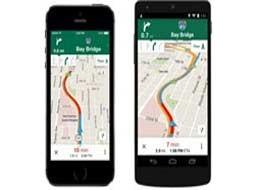 به روزرسانی سرویس نقشه گوگل برای اندروید و آیفون
