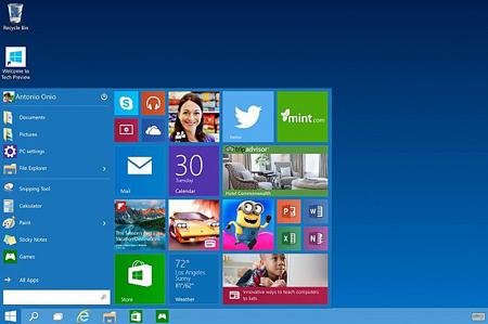 START MENU: برخلاف ویندوز 8 این نسخه جدید منوی استارت را شامل میشود تا کاربران آسانتر عمل کنند