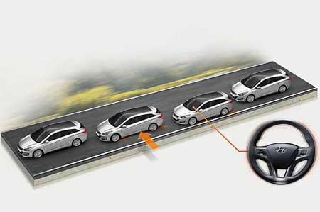 دستیار تشخیص خطوط جاده: زمانی که راننده بخواهد از خطوط جاده بیرون رود، این سیستم هشدار میدهد