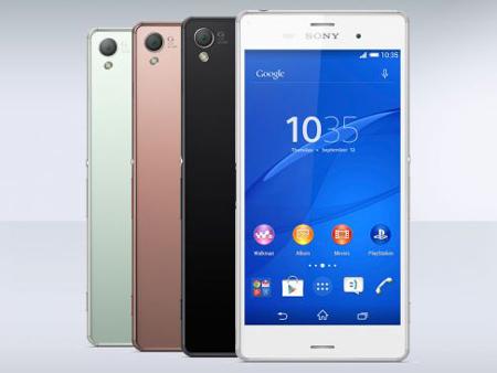 9-  Sony Xperia Z3 - اندروید 5- سایز صفحه نمایش: 5.15 اینچ- حافظه: 3 GB- دوربین: 20.7 MP - دوربین جلو: 2.2 MP