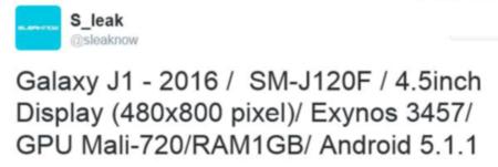 درز اولین تصویر و مشخصات گوشی هوشمند گلکسی J1 نسخه 2016 پیش از رونمایی رسمی