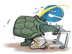 لاکپشت اینترنت روی اعصاب کاربران n00040015 b