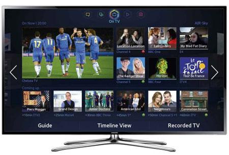 2. Samsung UE40F6400؛ یکی از باارزشترین تلویزیونهای هوشمند بریتانیا.