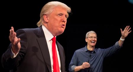 ترامپ به تیم کوک: آیفون را در خاک آمریکا تولید کن!