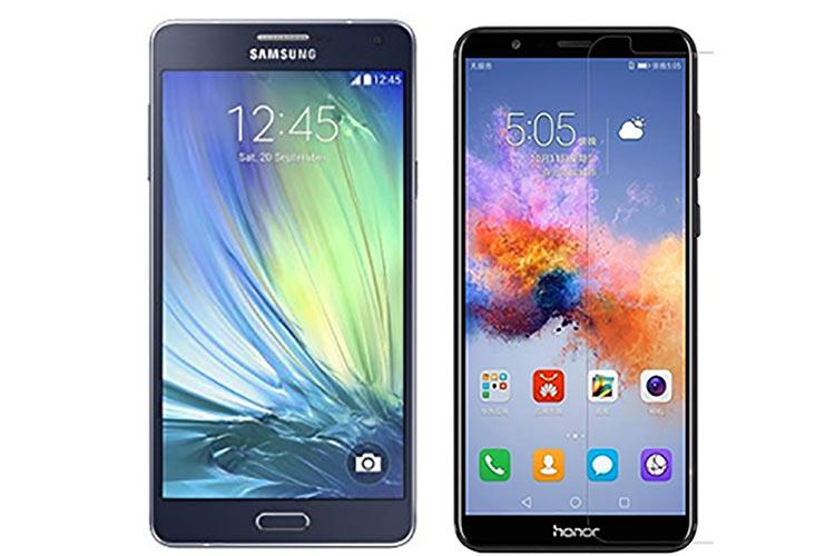 مقایسه Huawei Honor 7X و Samsung Galaxy A7