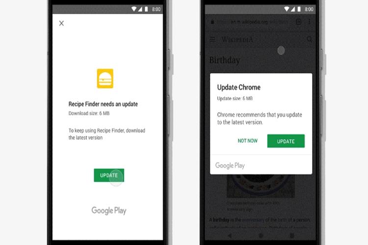 اجازه گوگل به توسعه دهندگان برای به روزرسانی اپلیکیشنهای اندروید