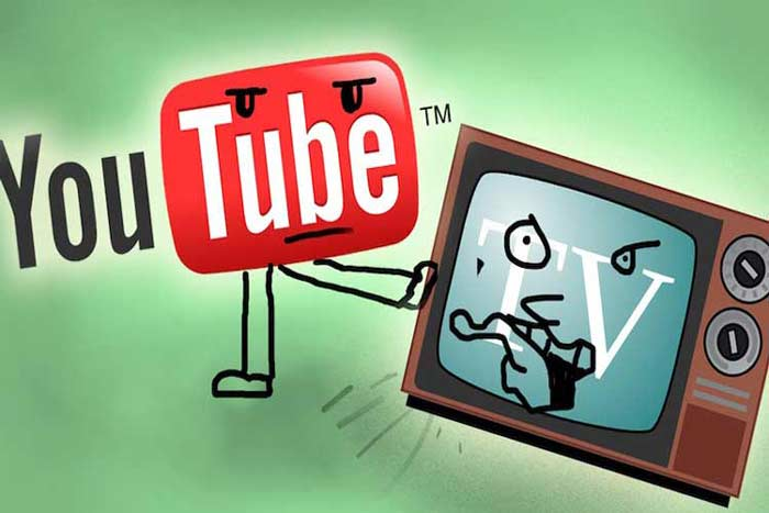 ویدئوهای آنلاین یوتیوب یا تلویزیون