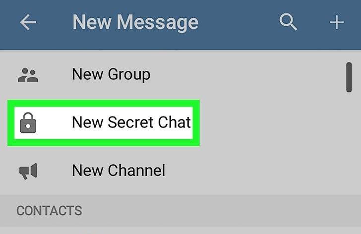 چت و گفتگوی محرمانه در تلگرام