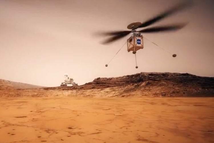پرواز بالگرد فضایی ناسا بر فراز مریخ