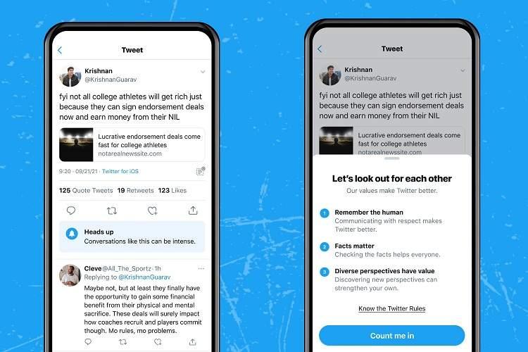 توئیتر قابلیتی را تست میکند که وقتی بحثها به سمت جدال پیش بروند هشدار میدهد