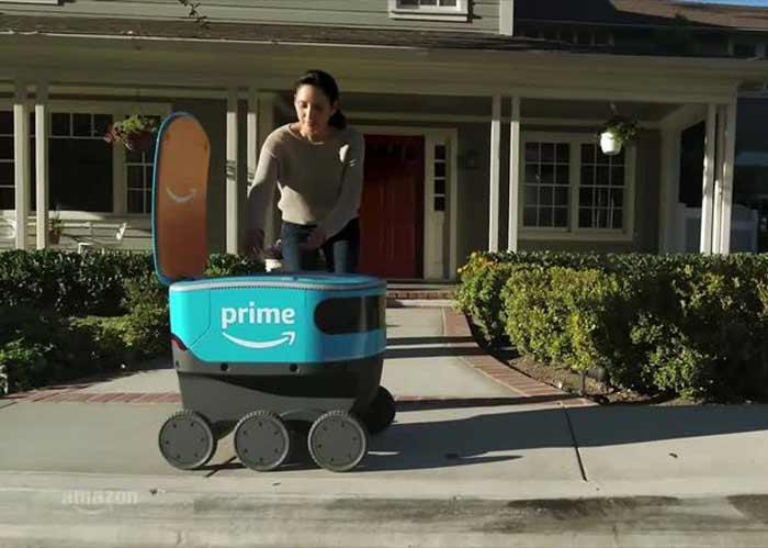 اسکات؛ رباتی که سفارشهای مشتریان آمازون را به دستشان میرساند!